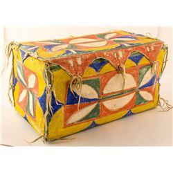 Sioux or Lakota Painted Parfleche Box