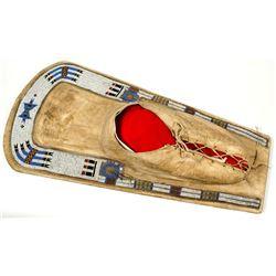 Vintage Ute Beaded Hide Cradleboard