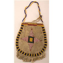 Sioux Beaded Hide Pouch