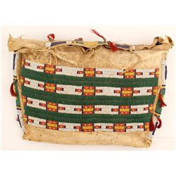 Plains Beaded Buffalo Hide Bag, c.1850s