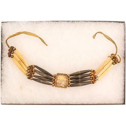 Traditional Cherokee Bone & Silver Necklace
