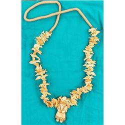 Ivory Fetish Necklace, Center Kachina Pendant