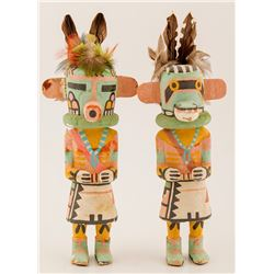 """Two """"Old Style"""" Kachinas, Vern Mansfield, Jr."""