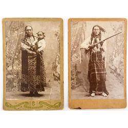 Cherokee Cabinet Card Portraits