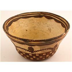Historic Bowl, Cactus, Checkerboard