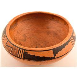 Vintage Bowl, Kiva Step, Leaf Design