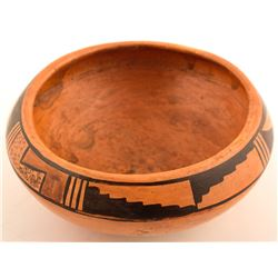 Vintage Bowl, Kiva Step, Leaf Design