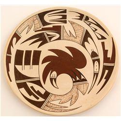 Parrot Design Plate, Maynard and Veronica Navasi