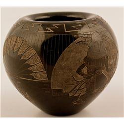 Etched Navajo Jar, Fabian de Vallenti Norberto
