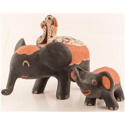 Elephant Figurines, Inez Ortiz