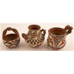 Three Vintage Isleta Pots