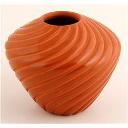 Redware Swirl Jar, Pauline Romero