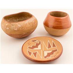 Three San Juan Pottery Pieces