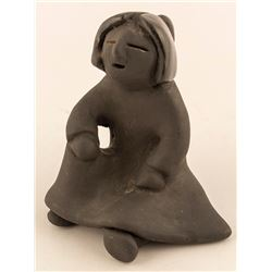 Female Blackware Figurine, Dorothy & Paul Gutierrez