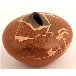 Mimbres Goat Seed Pot, Dusty Naranjo