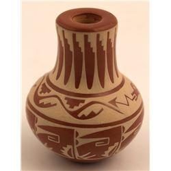 Miniature Red Ware Vase, Dolores Curran