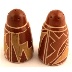 Redware Salt and Pepper Shakers