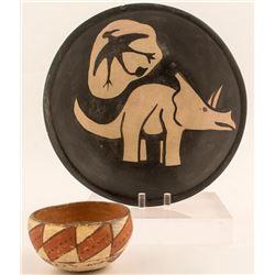 Dinosaur Bowl and Small Bowl