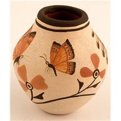 Kokopelli and Butterflies Pot by the Medinas