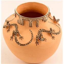 Kiva/Lizard Pot by Noreen Simplicio