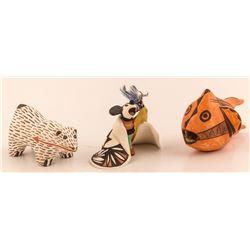 Three Animal Figurines