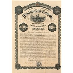 Washita Cattle Company Bond, 1883