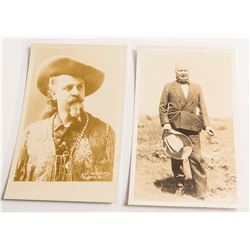 Buffalo Bill Postcards: Two nice RPC's of Buffalo Bill and Pawnee Bill