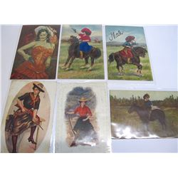 Six Cowgirl Postcards