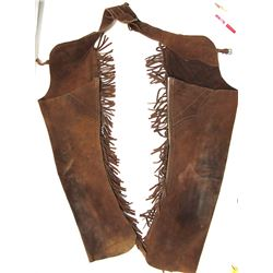 Leather Fringed Shotgun Chaps