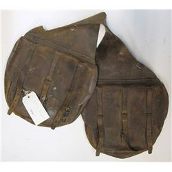 US Leather Saddle Bags With Canvas Liners
