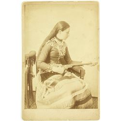 Bo Durtha, Wild West Female Sharpshooter, Cabinet Card