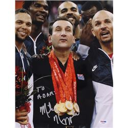 Mike Krzyzewski Signed USA 11x14 Photo (PSA COA)