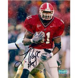 Leonard Pope Signed Georgia 8x10 Photo (Radtke COA)