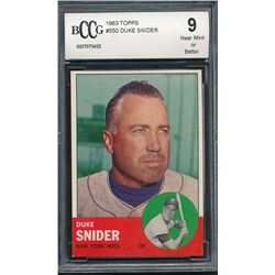 Duke Snider 1963 Topps #550 (BCCG 9)