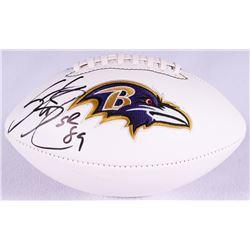 Steve Smith Sr. Signed Ravens Logo Football (Smith Hologram)