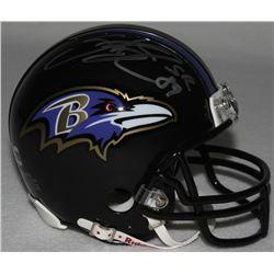 Steve Smith Sr. Signed Ravens Mini-Helmet (Smith Hologram)