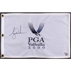 Tiger Woods Signed LE 2000 PGA Championship Pin Flag (UDA COA)