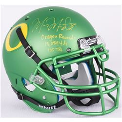 "Marcus Mariota Signed Oregon Full-Size Authentic Pro-Line Helmet Inscribed ""Oregon Record: 13,089 Yd"