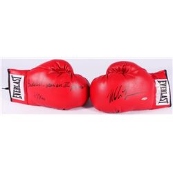 "Mike Tyson Signed Pair of (2) Everlast Boxing Gloves Inscribed ""Baddest Man on the Planet""  ""44 KOs"""