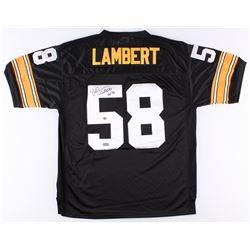 "Jack Lambert Signed Steelers Throwback Jersey Inscribed ""HOF 90"" (Radtke Hologram  Lambert Hologram)"
