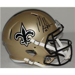 Mark Ingram Signed Saints Full-Size Speed Helmet (Ingram Hologram)