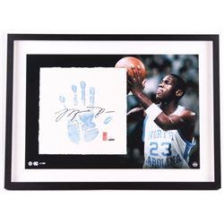 Michael Jordan Signed LE North Carolina 22x29 Custom Framed Tegata Handprint Display #19/123 (UDA CO