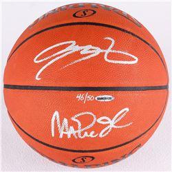 Magic Johnson  LeBron James Signed LE Official NBA Game Ball (UDA COA)