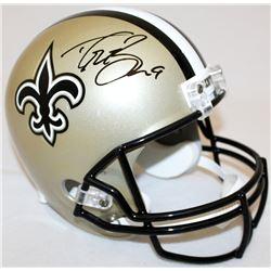 Drew Brees Signed Saints Full-Size Helmet (JSA COA  Brees Hologram)