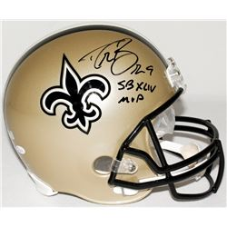 "Drew Brees Signed Saints Full-Size Helmet Inscribed ""SB XLIV MVP"" (JSA COA  Brees Hologram)"