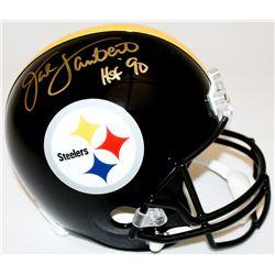 """Jack Lambert Signed Steelers Full-Size Helmet Inscribed """"HOF '90"""" (Radtke COA  Lambert Hologram)"""