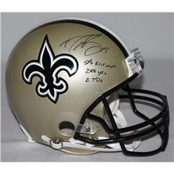 "Drew Brees Signed Saints Full-Size Authentic Pro-Line Helmet Inscribed ""SB XLIV MVP,"" ""288 Yds""  ""2"