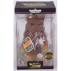 "Stan Lee Signed Guardians of the Galaxy ""Groot"" Marvel Hikari Vinyl Action Figure (Radtke COA)"