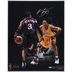 Kobe Bryant Signed LE Lakers 16x20 Photo With Allen Iverson (Panini COA)