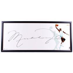 "Michael Jordan Signed North Carolina Tar Heels ""The Show"" 20x46 Custom Framed Display (UDA COA)"